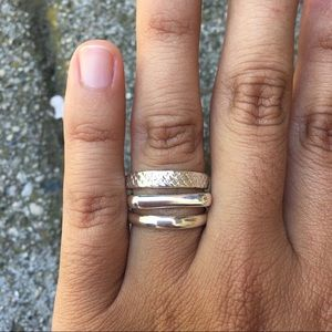 Peruvian Silver Stacked Ring